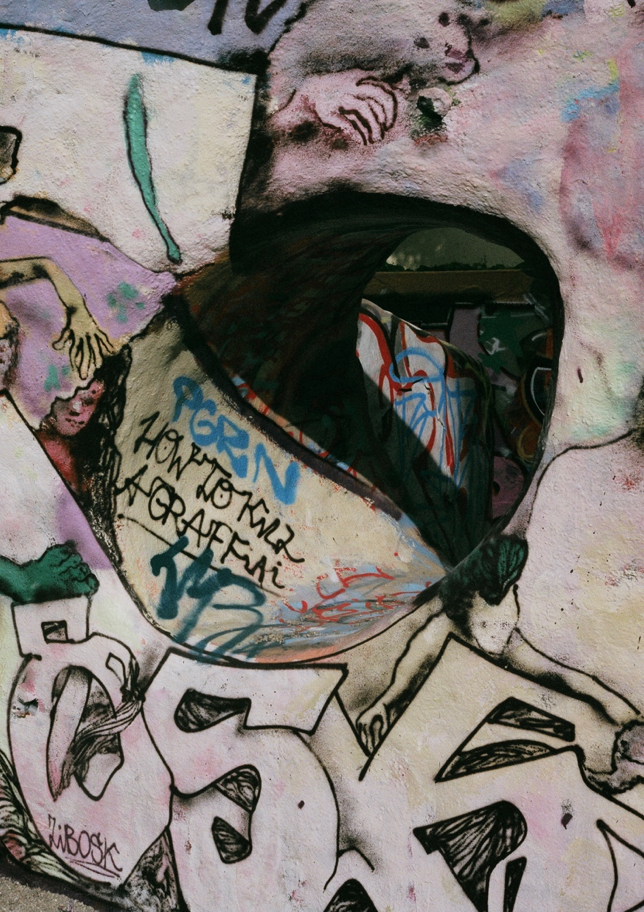 Mur de graffiti, Friedrichshain, Berlin, 2019