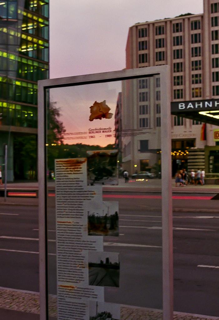 Monument commémorant le mur de Berlin, Potsdamer Platz, 2019